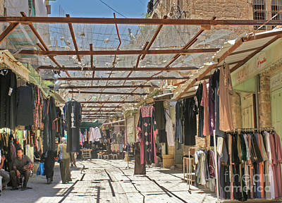 Photograph - Market In Hebron by David Birchall