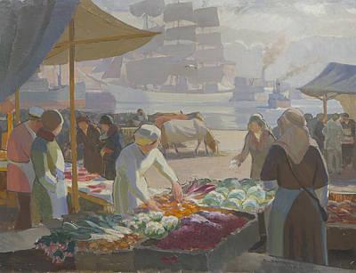 Market Square Art Print by Santeri Salokivi
