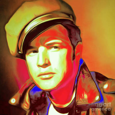 Photograph - Marlon Brando The Wild One 20160116 Square V2 by Wingsdomain Art and Photography