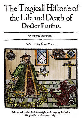 Drawing - Marlowes Doctor Faustus by Granger