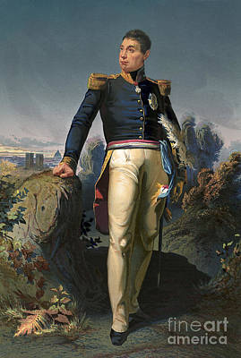 Marquis De Lafayette, French Military Art Print