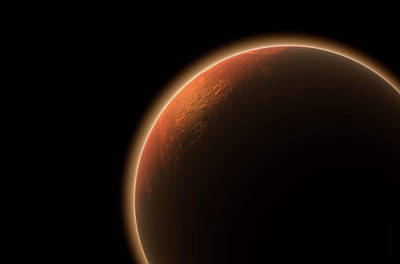 Cosmology Digital Art - Mars In Space by Allan Swart