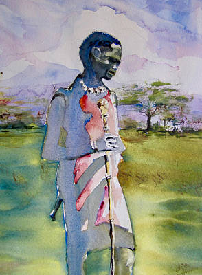 Painting - Masaai Boy by Carole Johnson