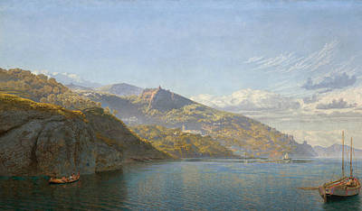 Italian Landscape Painting - Massa, Bay Of Naples by John Brett