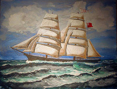 Painting - 2 Master Tall Ship by Richard Le Page