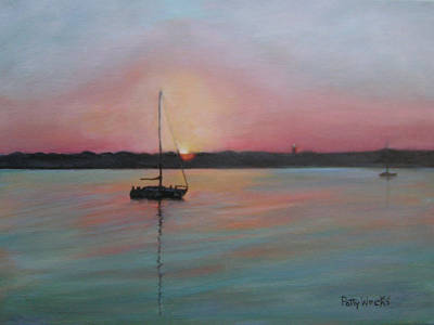 St. Augustine Florida Painting - Matanzas Morning View by Patty Weeks