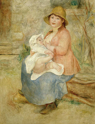 Maternity Wall Art - Painting - Maternity by Pierre-Auguste Renoir