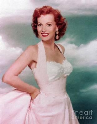 Maureen Painting - Maureen O'hara, Actress by Mary Bassett