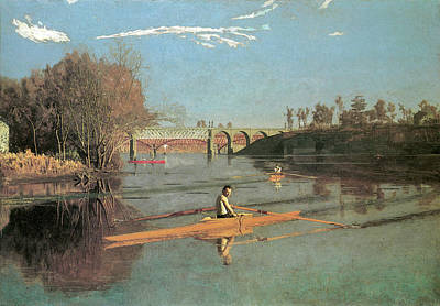 Photograph - Max Schmitt In A Single Scull by Thomas Eakins
