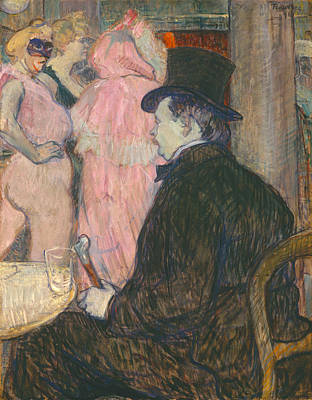 Sitting Painting - Maxime Dethomas by Henri de Toulouse-Lautrec