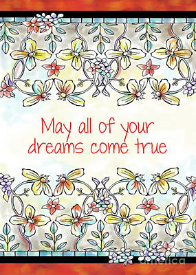 Vale Mixed Media - May All Of Your Dreams Come True by Pam Vale