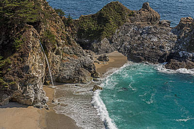 Photograph - Mcway Falls  Pacific Coast Highway   California by Willie Harper