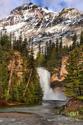 Photograph - 2 Medicine Trick Falls Spring by Adam Jewell