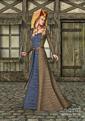 Digital Art - Medieval Lady by Design Windmill