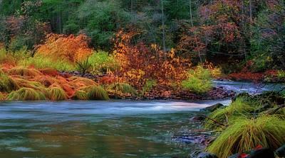 Yosemite Np Photograph - Merced River Autumn by Floyd Hopper