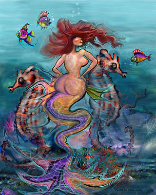 Digital Art - Mermaid by Kevin Middleton