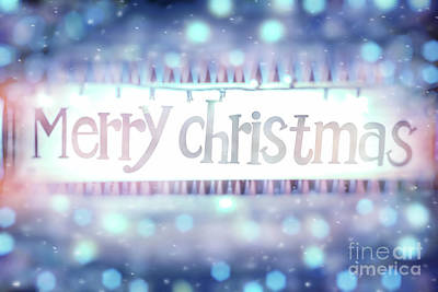 Photograph - Merry Christmas Background by Anna Om