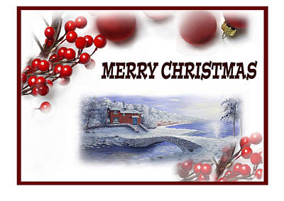 Painting - Merry Christmas by Saeed Hojjati