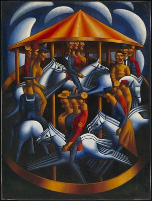 Merry-go-round Painting -  Merry Go Round by Mark Gertler