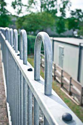 Black Metal Fence Photograph - Metal Railings by Tom Gowanlock