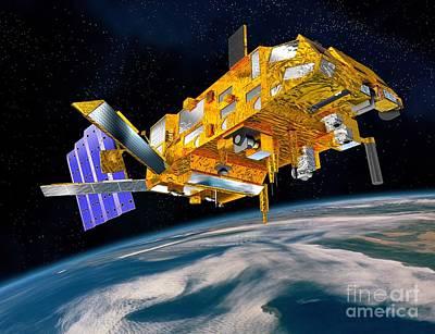 Metop Weather Satellite, Artwork Art Print by David Ducros