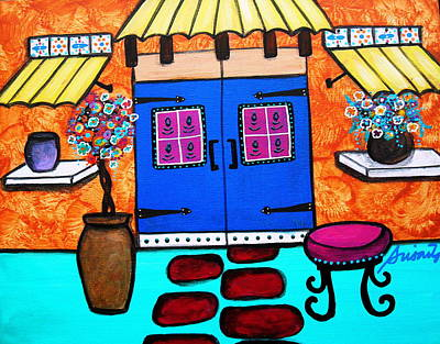 Painting - Mexican Door by Pristine Cartera Turkus