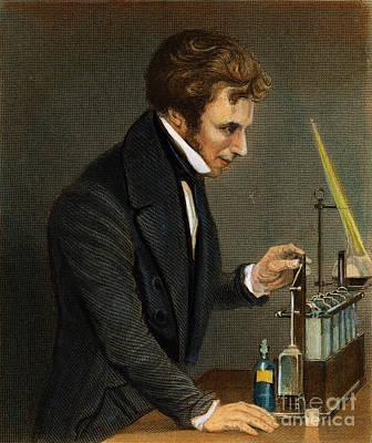 Physics Drawing - Michael Faraday, 1791-1867 by Granger