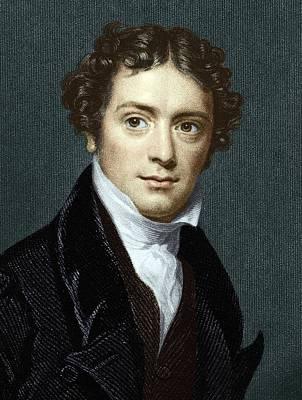 Michael Faraday, British Physicist Art Print by Sheila Terry