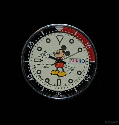 Mickey Mouse Watch Face Art Print