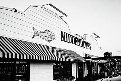 South Louisiana Photograph - Middendorf's - Bw by Scott Pellegrin