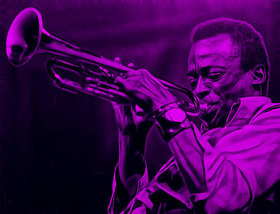 Miles Davis Collection Art Print by Marvin Blaine