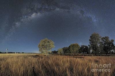 Moonlit Night Photograph - Milky Way Over Parkes Observatory by Alex Cherney, Terrastro