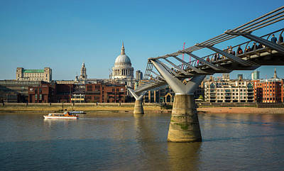 Photograph - Millennium Bridge by Stewart Marsden