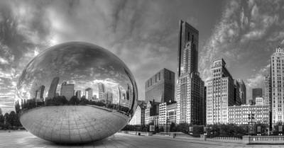 Millennium Park Photograph - Millennium Park In Black And White by Twenty Two North Photography