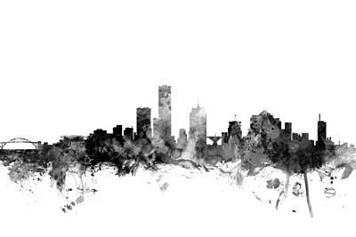 Milwaukee Digital Art - Milwaukee Wisconsin Skyline by Michael Tompsett