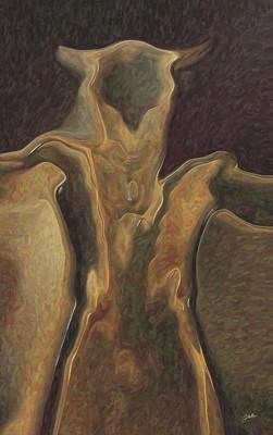 Minotaur Painting - Minotaur  by Quim Abella