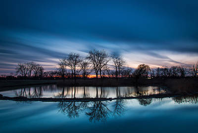 Indiana Landscapes Photograph - 2 Minutes Of Blue Hour by Jackie Novak