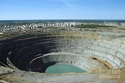 Mir Mine, Siberia, Russia Art Print by RIA Novosti