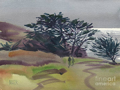 Watercolor Seascape Painting - Miramonte Point 1 by Donald Maier