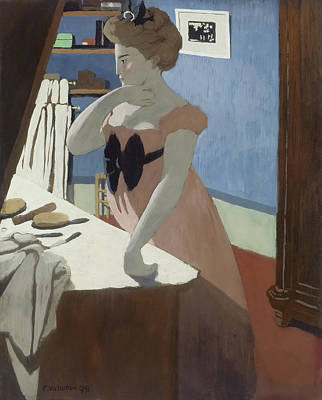 Dressing Room Painting - Misia At Her Dressing Table by Felix Vallotton