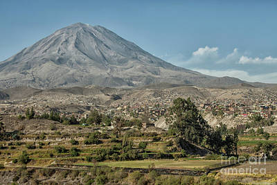Photograph - Misti Volcano At Arequipa, Peru by Patricia Hofmeester