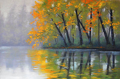 Misty Lake Art Print by Graham Gercken