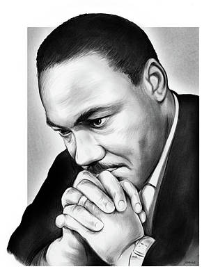 Drawing - MLK by Greg Joens