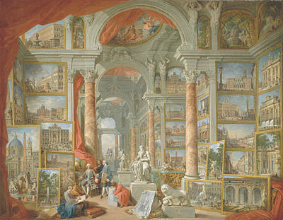 Painting - Modern Rome by Giovanni Paolo Panini