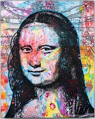 Art Print featuring the painting Mona Lisa by Dean Russo