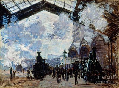 Photograph - Monet: Gare St-lazare, 1877 by Granger