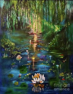 Painting - Monet's Pond by Jenny Lee