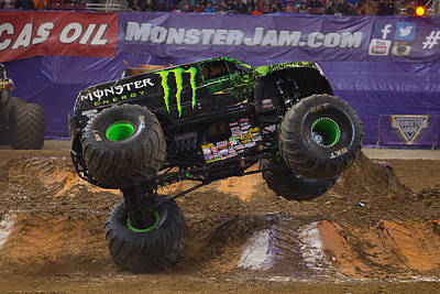 Backflip Photograph - Monster Energy by Jason Wisely