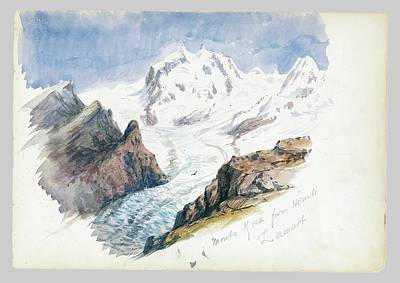 Thomas Kinkade Rights Managed Images - Monte Rosa from Hornli Royalty-Free Image by John Singer Sargent