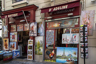 Digital Art - Montmarte Paris Art On The Street by Carol Ailles